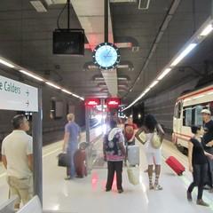 Cambio treno a El Prat