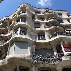 Casa Mila conosciuta come La Pedrera a Barcellona