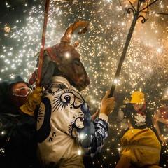 Diavoli di fuochi per Santa Tecla a Sitges