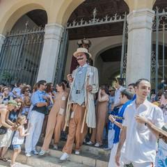 Fiesta Major a Sitges i giganti Americani