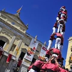 I castells le torri umane di Tarragona durante Santa Tecla