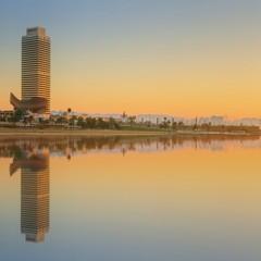 Panorama di Barceloneta a Barcellona