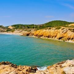 Playa de lhome mort a Sitges