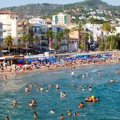 Playa de Sant Sebastià in Sitges
