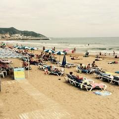 Playa de la Riera Xica a Sitges