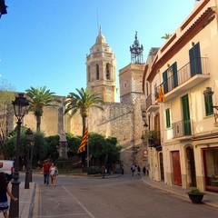Plaça de l'Ajuntament a Sitges