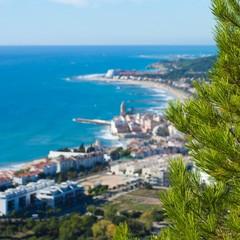 Vista di Sitges dal Garraf