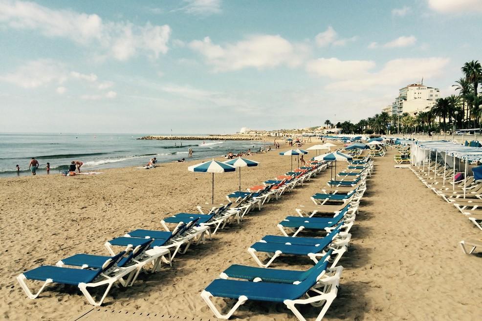 Playa de La Ribera a Sitges (Foto Alessandro Bove)